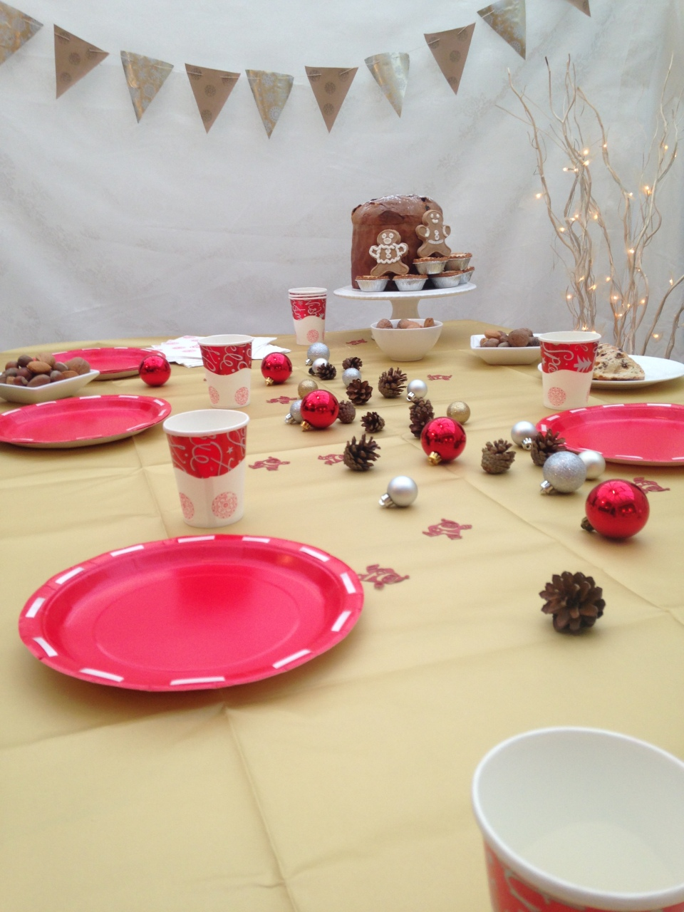 Christmas party in a box for Homemade christmas table decorations uk